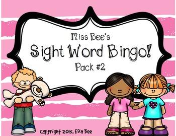 Sight Word Bingo! Pack #2