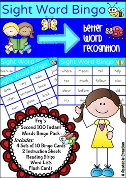 Sight Word Bingo Pack - Fry's Second Hundred Words {AU Version}