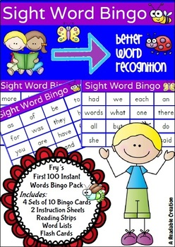 Sight Word Bingo Pack - Fry's First Hundred Words