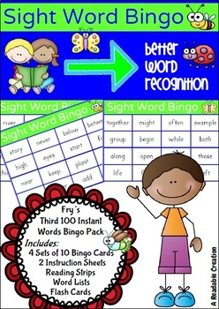Sight Word Bingo Pack - Fry's Third Hundred Words