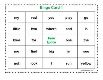Sight Word Bingo {Pre-Primer}