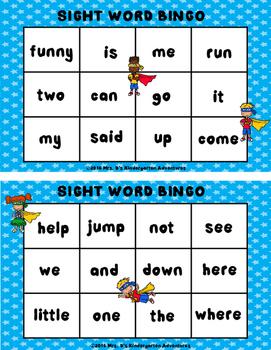 Sight Word Bingo!  Pre-primer and Primer Words