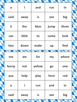 Sight Word Bingo:  PrePrimer and Primer Edition