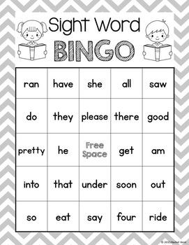Sight Word Bingo - Primer