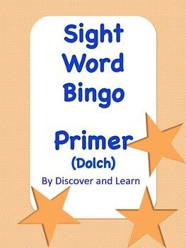 Sight Word Bingo: Primer (Dolch)