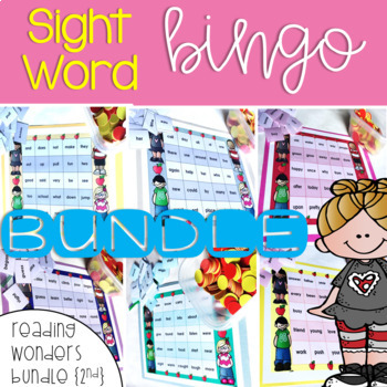 Sight Word Bingo Bundle for Reading Wonders 2nd grade {Units 1-6}