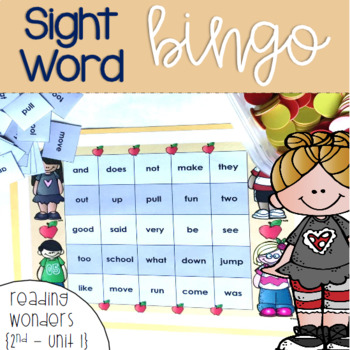 Sight Word Bingo for 2nd grade {Unit 1}