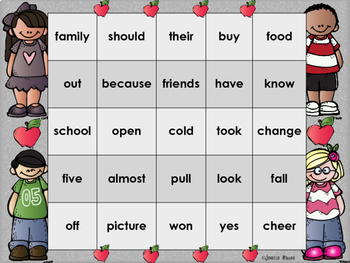 Sight Word Bingo for 2nd grade {Unit 2}