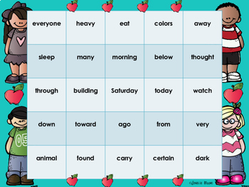 Sight Word Bingo for 2nd grade {Unit 4}