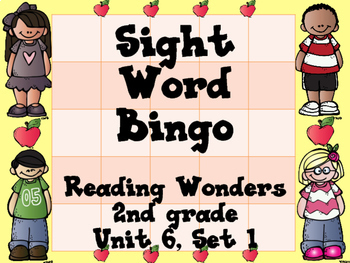 Sight Word Bingo for 2nd grade {Unit 6}