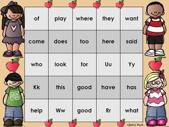 Sight Word Bingo Bundle for Kindergarten {Units 1-10}