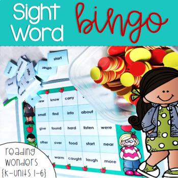 Sight Word Bingo for Kindergarten {Units 1-6}
