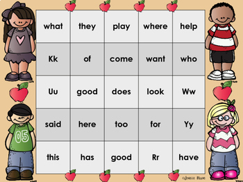 Sight Word Bingo for Reading Wonders Kindergarten {Units 7-10}
