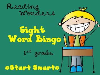 Sight Word Bingo for Reading Wonders 1st grade {Start Smart}