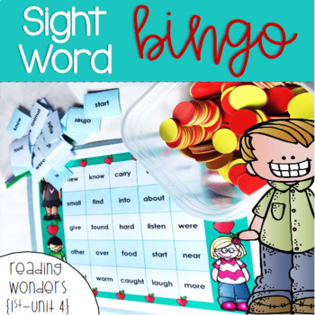 Sight Word Bingo for 1st grade {Unit 4}