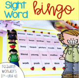 Sight Word Bingo for 1st grade {Unit 6}