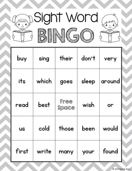 Sight Word Bingo - Second Grade