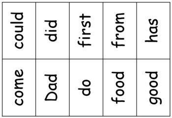 Sight-Word Bingo- Set 3