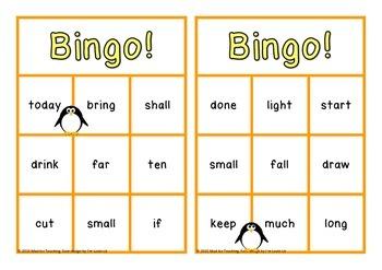 Sight Word Bingo Third Class Set