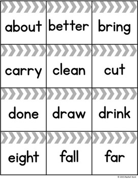 Sight Word Bingo - Third Grade