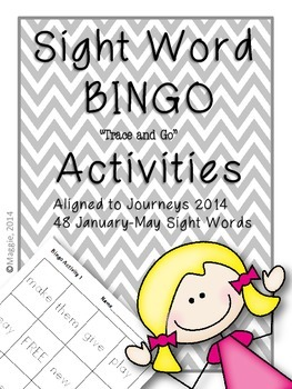 "Sight Word Bingo ""Trace and Go"" Activities"