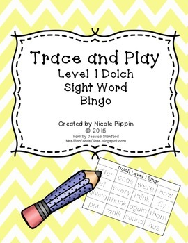 Sight Word Bingo Trace and Play (Dolch Level 1)