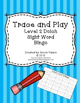 Sight Word Bingo Trace and Play (Dolch Level 2)