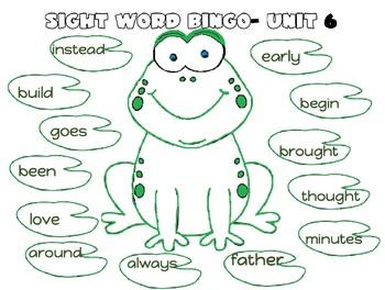Sight Word Bingo (Treasures First Grade)