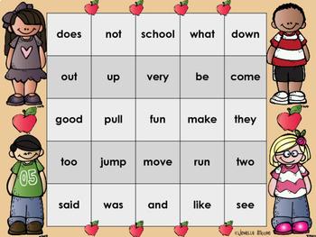 Sight Word Bingo for 1st grade {Unit 1}