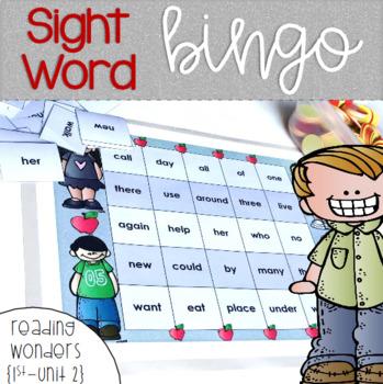 Sight Word Bingo for 1st grade {Unit 2}
