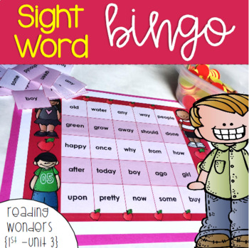 Sight Word Bingo for 1st grade {Unit 3}