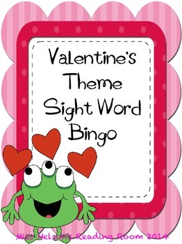 Sight Word Bingo Valentine's Day theme