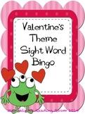 Sight Word Bingo Valentine's Day theme