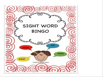 Sight Word Bingo - Video FREEBIE