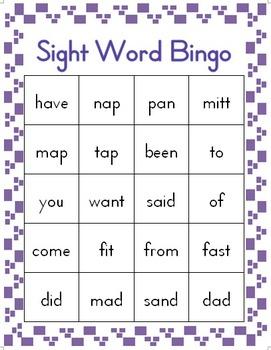Sight Word Bingo Volume 2