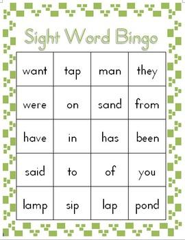 Sight Word Bingo Volume 3