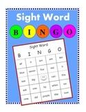 Sight Word Bingo with Sight Word List