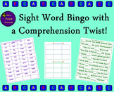 Sight Word Bingo with a Comprehension Twist! (Editable!)