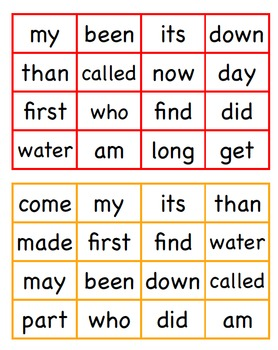 Sight Word Blackout 80-100