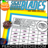 Sight Word Blades Spinner Toy Worksheets by Peachie Speechie