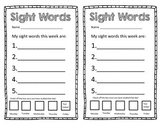 Sight Word Blank Templete