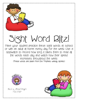 Sight Word Blitz