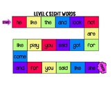 Sight Word Board Game (Level C on Jan Plan)