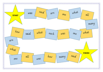 Sight Word Board Games