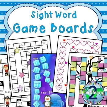 Sight Word Board Games (SET 3)