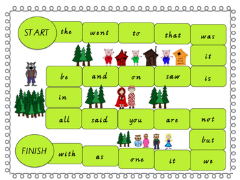 Sight Word Boardgames (Fairy Tale Theme)