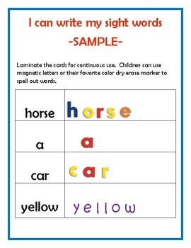 Sight Word Boards