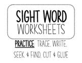 Sight Word Bonanza! Trace,Write,Seek&Find,Cut&Glue
