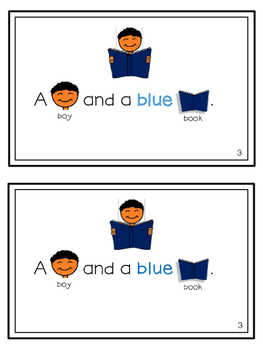 FREE Easy Reader Sight Word Book 1