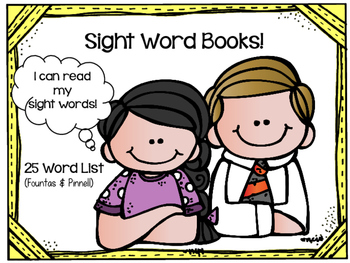 Sight Word Book: 25 Word List